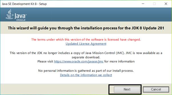 install java on windows step1
