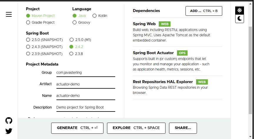 spring-boot-starter-actuator dependencies